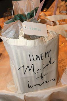 Maid of Honor gift and bridesmaid gifts