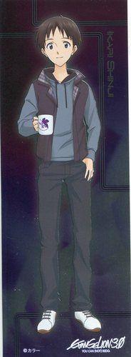 Neon Genesis Evangelion EVA shiny sticker official Japan Ikari Shinji
