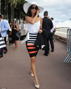 Lucy Mecklenburgh dresses to impress in Cannes. but noone even bats an eyelid at the TOWIE starlet Chloe Sims, Perfect People, Beautiful People, Beautiful Ladies, Cannes, Skirt Outfits, Cool Outfits, Pink Bandeau Bikini, Outfits