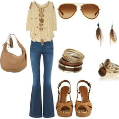 favorite look for a casual outfit ever..minus the heels..because my feet hate heels