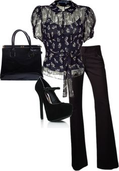 """Fashionable Work Day"" by sannroberts on Polyvore"
