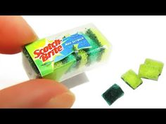 DIY Miniature Sponge for washing dishes - YouTube