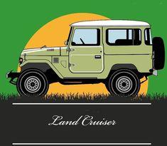 FJ40 Land Cruiser Toyota Fj40, Toyota Cars, Jeep 4x4, Toyota Land Cruiser, Jeep Drawing, Volkswagen, Jeep Stickers, Car Drawings, Vintage Trucks