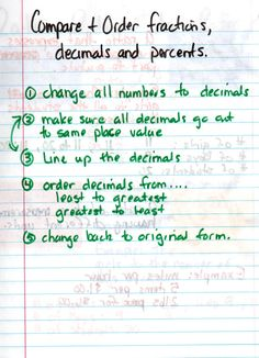 math worksheet : 1000 images about fractions decimals and percents middle school  : Order Fractions Decimals And Percents Worksheet