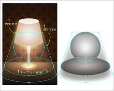 イラレラボ illustrator-labo - Tutorial_イラレで光の表現その3