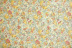 Liberté de Londres classique Claire Aude Tana Lawn tissu 100 % coton en yard 1 or et jaune