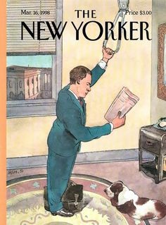 Abstract artist Gary Komarin speaks with illustrator and cartoonist Barry Blitt, creator of New Yorker Magazine cover art, about his process and inspiration. The New Yorker, New Yorker Covers, Book Value, Thing 1, All Poster, Posters, Photo Caption, Magazine Art, Magazine Covers