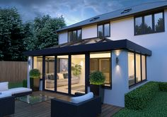 The next generation in conservatory/orangery roofing Orangerie Extension, Extension Veranda, Conservatory Extension, House Extension Plans, House Extension Design, Glass Extension, Roof Extension, House Design, Extension Ideas