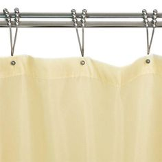 "Polyester Shower Curtain - Creamy Yellow - 72"" W x 96"" H"