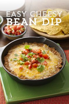 This dip will surely be a game day 'go-to' for friends and family; with only three ingredients, it also could not get any easier! Featuring Old El Paso™ Refried Beans, Green Chiles and Melty Cheese and ready in just 20 minutes, it's sure to be a hit with your crowd!
