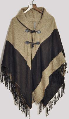 Jersey oversize flecos botón de cuerno negro-Kaki EUR€23.54