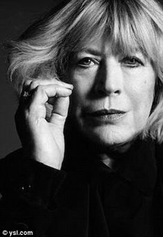 '60s stars: Saint Laurent fashion director Hedi Slimane had legendary singers Joni Mitchell and Marianne Faithfull (pictured) pose in similar black and white portraits for the label's 2015 and 2014 campaigns, respectively