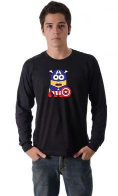 Camiseta Capitão América SuperMinions por apenas R$37.91
