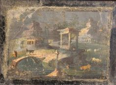 What 250 Years of Excavation Have Taught Us About Pompeii What Was it Like to Live in Luxury in Pompeii?: Mural from the House of the Vestals, Pompeii. Collection of the Naples Archaeological Museum Ancient Pompeii, Pompeii And Herculaneum, Ancient Art, Ancient History, Fresco, Roman History, Antique Paint, City Landscape, Roman Empire