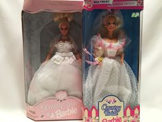 Country Bride Barbie Walmart Special Edition & Dream Bride 1996 Barbie New   #Mattel