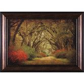 Found it at Wayfair - Road Lined with Oaks and Flowers by William Guion Framed Photographic Print