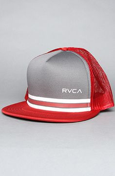8ee9bce716e95 The Barlow Trucker Hat in Red   Pavement by RVCA