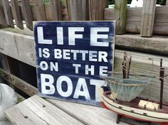 Boating Sign Nautical Nursery and Beach Decor by justbeachyshop, $29.75
