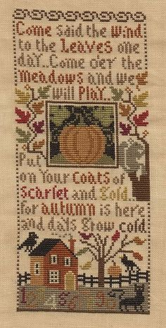 Love this saying:  From Autumn Leaves