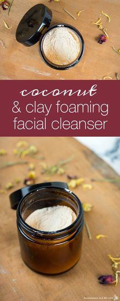 Coconut Clay Facial Cleanser - Humblebee & Me - Care - Skin care , beauty ideas and skin care tips Homemade Facials, Homemade Skin Care, Diy Skin Care, Homemade Beauty, Diy Beauty, Beauty Tips, Homemade Blush, Homemade Scrub, Homemade Shampoo