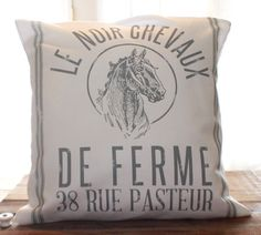 Horse Farm Pillow by CCurate on Etsy