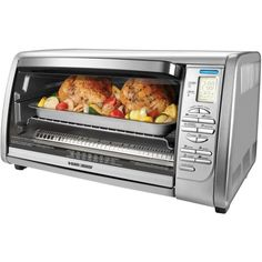 Black and Decker Digital Toaster Oven Stainless Steel Convection Cooker Stainless Steel Toaster, Stainless Steel Countertops, Black And Decker Toaster, Electric Toaster, Electric Oven, Countertop Convection Oven, Large Oven, Oven Racks, Small Kitchen Appliances