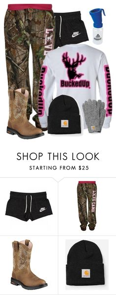 """""""OOTD chores last time before leaving for Florida :'("""" by dairy-showlife ❤ liked on Polyvore featuring NIKE, Realtree, Ariat and Carhartt"""