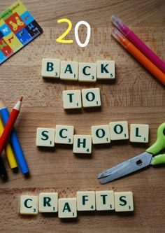 20 crafty Back to school ideas. I hate crafts, but sometimes on an off day these can be super helpful. They can also lead you into a super cool art lesson if you add your own flair.