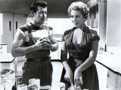 Silvia Pinal y Pedro Infante (El Inocente 1956) Rogelio A. González. Foto Matoux Films & Peli Mex.