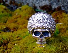SUPER G  AFRO Skull Ring by Bentjewelrydesign on Etsy