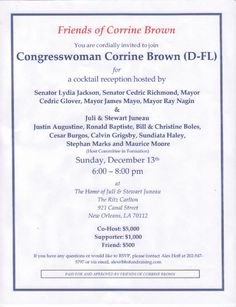 Political fundraiser invitations | An invitation to a fundraising ...
