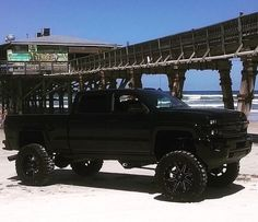 Lifted chevy silverado 4x4 truck