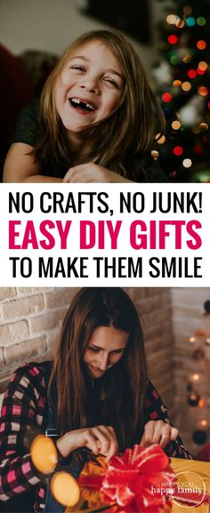 Awesome list of fool-proof DIY Christmas gifts...no crafts and no junk that will end up shoved in a closet! These are presents your loved ones will actually WANT and USE. When you want meaningful Christmas gift ideas for family and friends, these unique Christmas gifts are the perfect solution. Includes experience gifts and unstuff gifts too! #christmasgifts  #giftideas #giftguide #diygifts