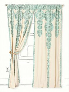 Embroidered Curtains. now, where would I get these in Estonia?