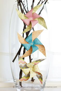 HOW TO: Make Decorative Paper Pinwheels