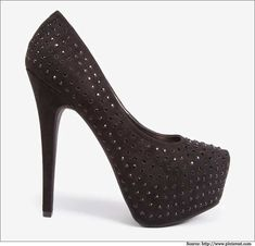 Rhine stoned Platform #Pumps –The #Bling is certainly not to be missed as it brilliantly compliments your outfit and can be worn for a grand occasion. #Forever21