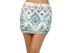 Aztec Sequin Skirt  $36.00
