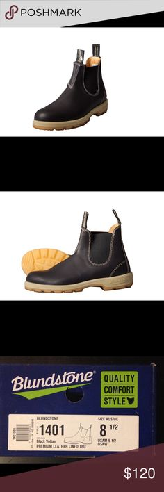 Blundstone black leather boots Blundstone black leather boots for men or women. USA size 9 1/2 Blundstone Shoes Boots