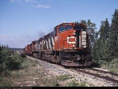 RailPictures.Net Photo: HBRY 3547 Hudson Bay Railway MLW M420W at Cranberry Portage, Manitoba, Canada by Robert Smith