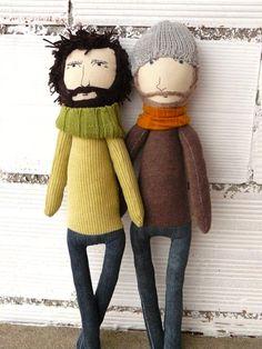 CUSTOM ORDER . Rag dolls man or woman 50 cm. AntonAntonThings Spain $58
