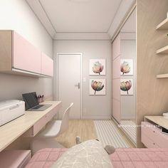 Terça-feira começando com mais um projeto de cuarto for a pre-adolescent . Room Design Bedroom, Girl Bedroom Designs, Home Room Design, Room Ideas Bedroom, Small Room Bedroom, Home Decor Bedroom, Girls Bedroom, Bedrooms, Study Room Decor