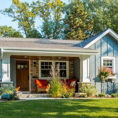 Love this porch. Sicora Design/Build's Photos.