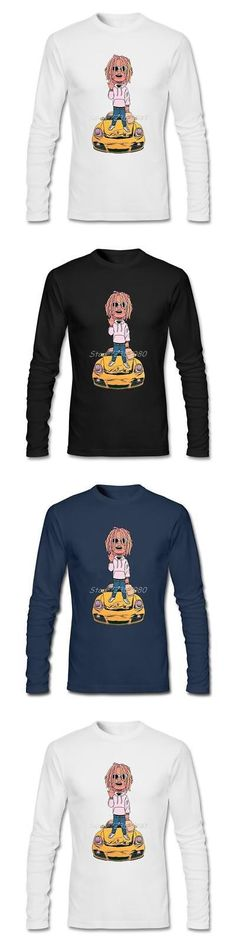 Tops Shirts and T-Shirts 175521: Lil Pump T Shirt Custom Long Sleeve Men S Clothes New Style Funny Cotton Crewnec -> BUY IT NOW ONLY: $31.4 on eBay!