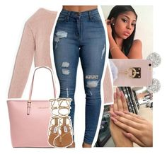A fashion look from December 2016 featuring Max&Co. sweaters, Steve Madden sandals and MICHAEL Michael Kors tote bags. Browse and shop related looks. Sporty Outfits, Swag Outfits, Girly Outfits, Winter Outfits, Summer Outfits, Hot Outfits, Teen Fashion, Winter Fashion, Fashion Outfits