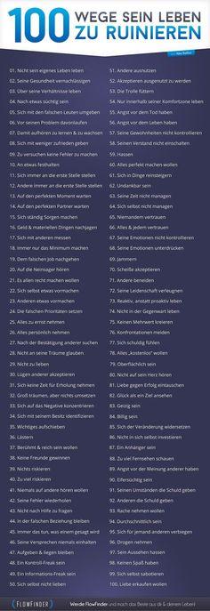 100 Wege sein Leben zu ruinieren