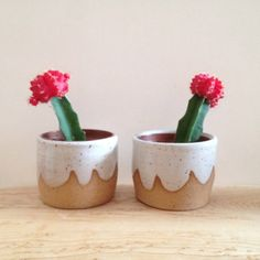 Cloud Planter Set  set of two small speckled by TheLuluBird