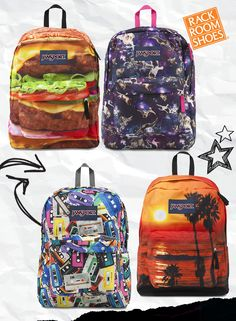 Carry everything you need in a super cool backpack by Jansport. The straps and back panel are padded for comfort. #BackToShool2015