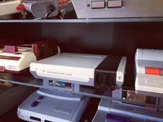 Shared by silkypico #famicom #microhobbit (o) http://ift.tt/1oD23eh of an oddball to my collection but I really like the design of this twin NES clone. #nintendo #nes