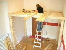 Etagenbett Bauen : Ein hochbett selber bauen diy anleitung