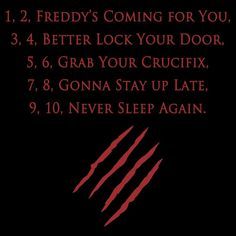 - Freddy Rhyme in A Nightmare on Elm Street (1984)